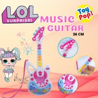 Mainan gitar alat musik bayi balita LOL surprise ada lampu dan musik