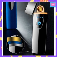 Korek Api Elektrik Fingerprint Touch Sensor Mancis Keretan Pemantik - Hitam