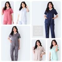 Seragam Baby Sitter Calia / Baju Suster / Baju Klinik / Seragam Nanny - Berry, S