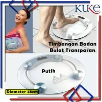 KUKE LS-10 Timbangan Badan Digital Kaca / Personal Scale / Transparant