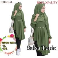 BAJU BARU MEWAH SALSA TUNIC Fashion Baju Atasan Muslimah Wanita Model