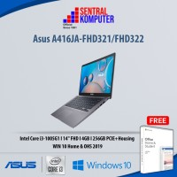 Asus A416JA-FHD321 -i3-1005G1-4GB-256GB SSD-Win 10 Home-OHS 2019