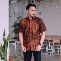 Baju Batik Pria Pendek PREMIUM Solo Modern Seragam Kantor Elegan Jumbo