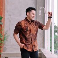 Baju Hem Batik Pria Pendek PREMIUM Seragam Kantor Masa Kini Kekinian