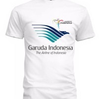KAOS GARUDA INDONESIA 02 LOGO WARNA - BAJU TSHIRT PESAWAT MASKAPAI