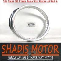 Velg Almini TDR U Shape Warna Silver Ukuran 140 Ring 16