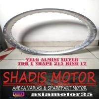 Velg Almini TDR U Shape Silver Ukuran 215 Ring 17