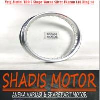 Velg Almini TDR U Shape Warna Silver Ukuran 140 Ring 14