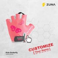 Customize Zuna Gloves Cycling Kids Butterfly