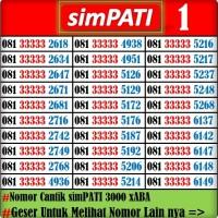 Nomor Cantik Telkomsel simPATI 3000 xABA