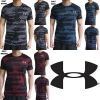 Kaos Olah Raga 6907 Pria Baju Olahraga Cowok Fitness Gym Running - Hitam, M