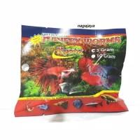 Tubifex worm cacing kering 5 gr cacing sutra beku kering makanan ikan