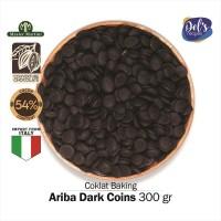 Ariba Couverture Dark Chocolate 54% Coin - Coklat Kovertur Koin 300gr
