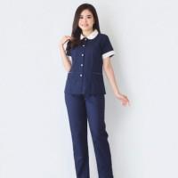 Seragam Suster Tiffany Navy / Seragam Baby Sitter / Baju Nanny