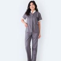 Baju Suster Calia Grey / Seragam Nanny / Seragam Baby Sitter