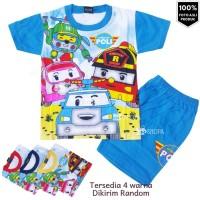 HM Baju Setelan Anak Laki-laki Robocar Poli Fullprint Umur 1-10thn