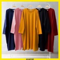 TK08 Tunik Kaos Jumbo Wanita Baju Muslim Lengan Panjang Adem Terbaru