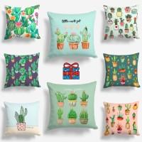 Bantal Sofa Cactus / Tanaman Kaktus Set 40x40cm - Pusat Kado Murah