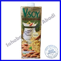 Vsoy V-Soy Susu Kedelai Soy Milk Multi Golden Grain Original 1 Liter