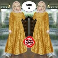 gamis anak baju muslim brokat anak perempuan syari kid gamis lebaran