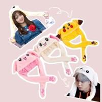 37DDO Kupluk Banny hat BLACKPINK ear plush toy JISOO JIMIN Pikachu