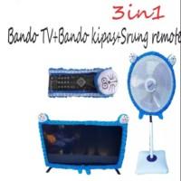 3 IN 1 BANDO / SARUNG / COVER TV KIPAS REMOTE KARAKTER DORAEMON