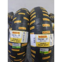 Paket Ban Pirelli 120/70 & 150/60 ring 17 diablo rosso sport R15 R25