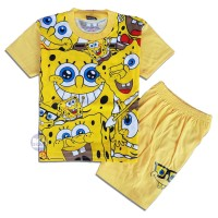 Baju Setelan Anak Spongebob Baju Karakter Anak 1-10th