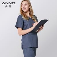 ANNO Baju perawat Scrub Medis untuk Pria/Wanita dengan Kain Elastis