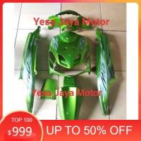 Cover body Alus Mio sporty / Mio smile hijau plus Striping