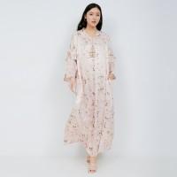 NONA Raya Abaya Dress Long Sleeve Dusty Pink