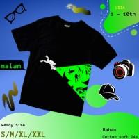 Baju Kaos Tshirt Anak Cowok Laki-Laki Glow In The Dark Tema In The Sea
