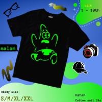 Baju Kaos Tshirt Anak Cowok Laki-Laki Glow In The Dark Kartun Patrick