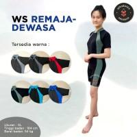 Baju Renang WS Remaja-Dewasa (Unisex) - Merk Z3000S - Abu muda, 15 - Abu muda, 13
