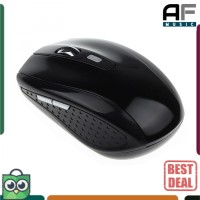 High Quality Gaming Mouse Wireless Optical 2.4GHz - AA-01 Black Hitam