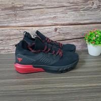 Sepatu Under Armour Hovr Project Rock 3 Black Red Premium Ori snaekers