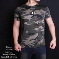 Baju Kaos Pria Army Loreng / Gym Fitness