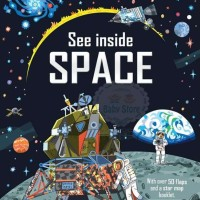 Usborne See Inside Space - Lift the Flap - Buku Import Anak Planet