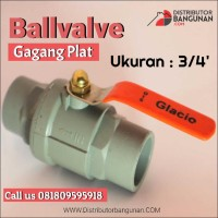 Ballvalve 3/4' Pvc Gagang Plat SKT