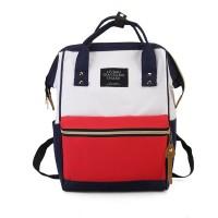 Tas Kanvas ukuran besar kapasitas 36-55L Korea Style - Putih/Merah