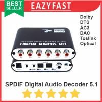 Digital Audio Decoder 5.1 DAC Converter SPDIF Dolby AC3 DTS Toslink