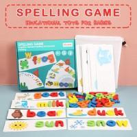 Mainan Edukasi Spelling Game Mengeja Kata Belajar Membaca Anak Kayu