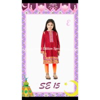 setelan baju muslim / setelan anak perempuan indian