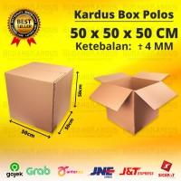 KARDUS JUMBO - KARTON - BOX POLOS - UKURAN 50 x 50 x 50 CM