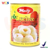 Meily Lychee in Heavy Syrup Premium Grade 565 gr - Buah Lychee Kaleng