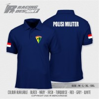 Poloshirt / Kaos Polo PM Polisi Militer Indonesia Terbaru Murah Distro