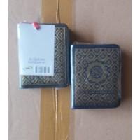 Alquran Hafalan Saku Mini Resleting Sahifa A6 Cover Biru Cokelat Tosca