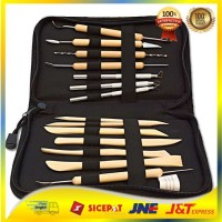 Sculpting Tool Set / Butsir Set / Pisau Ukir Set 14 in 1 (Bonus Tas)
