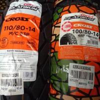 Paket ban corsa platinum cross S 100 80 - 14 dan 110 80 - 14 tubeless