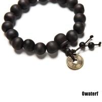 Wood Buddha Buddhist Prayer Beads Tibet Mala Bangle Wrist Ornament